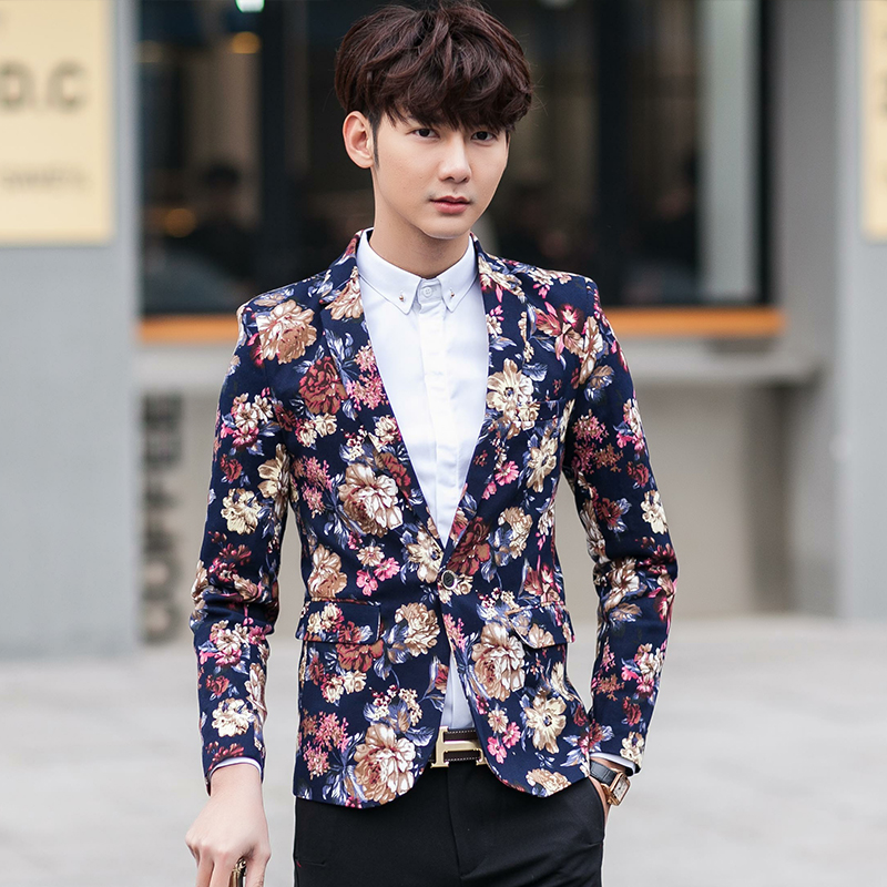 Popular Mens Floral Blazer-Buy Cheap Mens Floral Blazer lots from ...