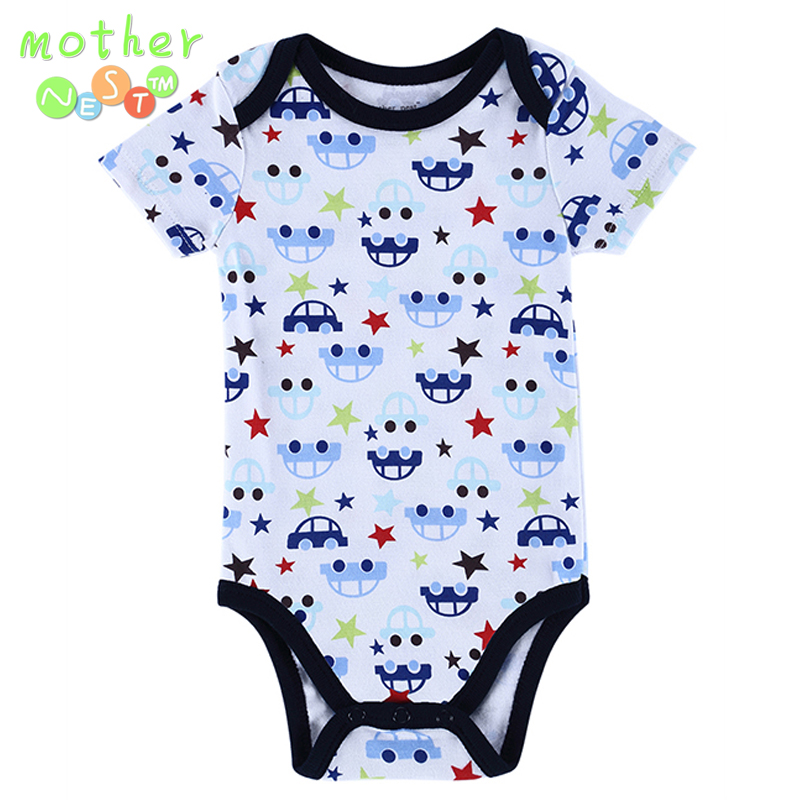 Near Cutest 1pcs/lot BABY BODYSUITS 2018 Summer 100% Cotton Body Bebe Baby Clothing Jumpsuit Printed Baby Boy Girl Bodysuits