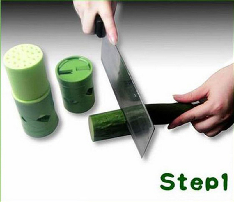 Tenske accessoire cuisine HOT New Vegetable Fruit Veggie Twister Cutter Slicer Processing Kitchen Tool Garnish*30 Drop shipping