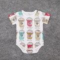 1 pcs novo 2016 verão roupas de bebê ins padrão de impressão crianças meninas roupas casuais meninos roupas de bebê