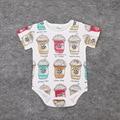 1pcs new 2016 summer ins baby clothes ice cream print infants girls bodysuit casual cartoon pattern baby bodysuit boys newborn