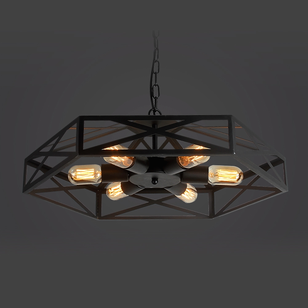 Cafe Lighting Chilli Metal Pendant : America industrial vintage pendant light edison