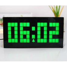 Desktop LED Clock Digital Calendar Temperature Alarm Clock Bedroom Backlight Clock Kitchen Decor Wall Clock