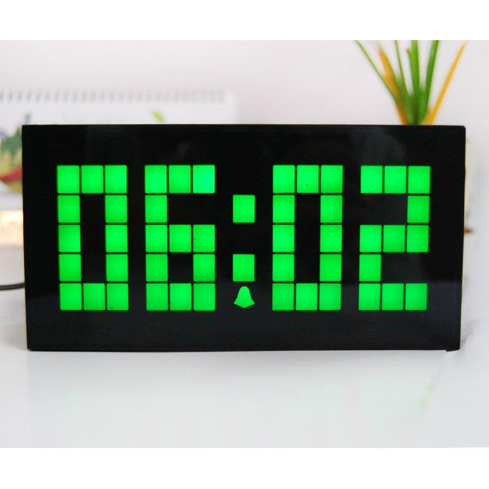 Desktop LED Clock Digital Calendar Temperature Alarm Clock Bedroom Backlight Clock Kitchen Decor Wall Clock