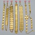 Money Coin Pulsera de Oro Islámica Musulmán Árabe Monedas Joyería Del Brazalete de la Pulsera para Hombres de Las Mujeres de Países Árabes de Oriente medio