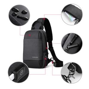 Image 5 - Xincada sling saco pacote de peito ombro crossbody sacos dos homens saco do mensageiro com porta carregamento usb pequeno saco homem bolsa