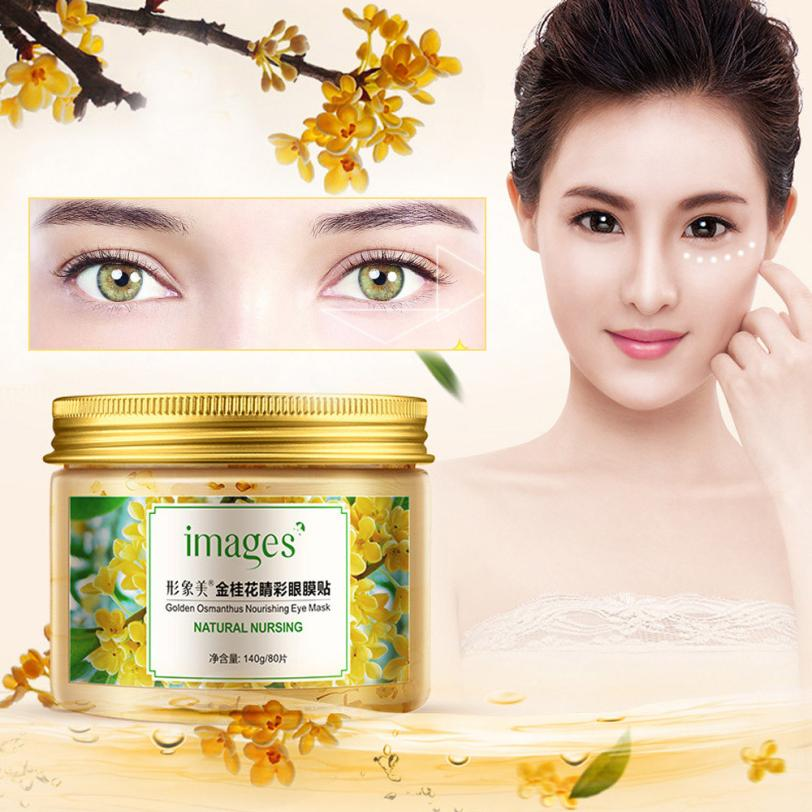 80PC Osmanthus Eye Mask Essence Extraction Moisturizing Nourish To Dark Circles Protein Face Care Sleep Patches Health