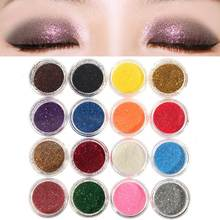 Professional 16 Mixed Colors Glitter Eyeshadow Eye Shadow Makeup Shiny Loose