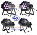 4xLot Sales 2016 Led Par Can 7x10W RGBW 4IN1 Quad Color Mini Par Led DMX Light High Power DJ Disco Strobe Stage Projector Lights
