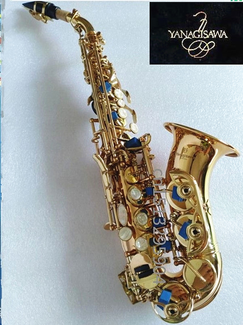 Yanagisawa Soprano saxophone Tom BB Soprano Saxophone curve of B created musical instrument Saxophone for child's gift S new arrival screw nut plug saxophone trumpet erhu musical woodwind instrument microphone prevent mechanical noise for helicopter