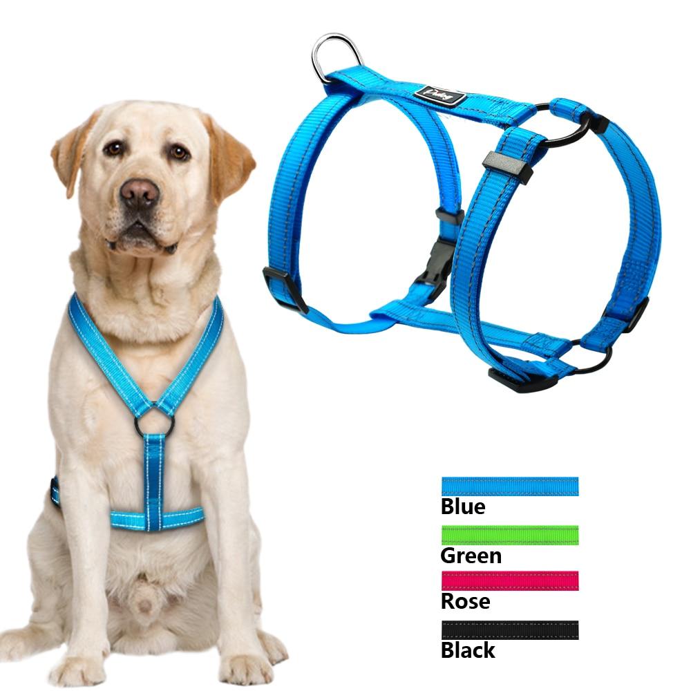 Didog Reflective Nylon Dog Harness Night Safety Pet