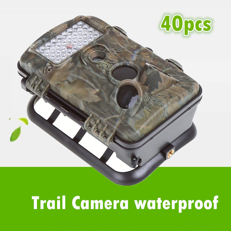 whosale 40pcs use for orchard farm Fish pond forest camera outdoor waterproof 5MP HD recorder with screen PIR Alarm orchard