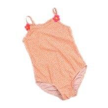 Funfeliz One Pieces fürdőruha lányoknak 2-8 év Baby Girl Fürdőruha Aranyos virágos nyomtatás Gyerekek Lányok Úszás Gyermekek Bikini