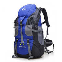 Gran oferta 50L mochila al aire libre bolsa de Camping impermeable montañismo senderismo mochilas Molle Sport Bag escalada mochila FK0396