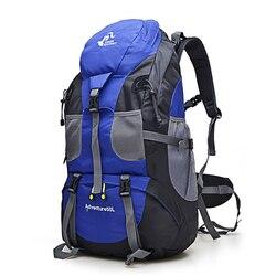Heißer Verkauf 50L Outdoor Rucksack Camping Tasche Wasserdichte Bergsteigen Wandern Rucksäcke Molle Sport Tasche Klettern Rucksack FK0396