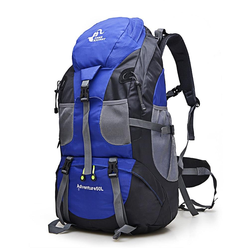 Venta caliente 50L al aire libre mochila Camping bolsa impermeable alpinismo senderismo mochilas Molle Sport Bag escalada mochila FK0396