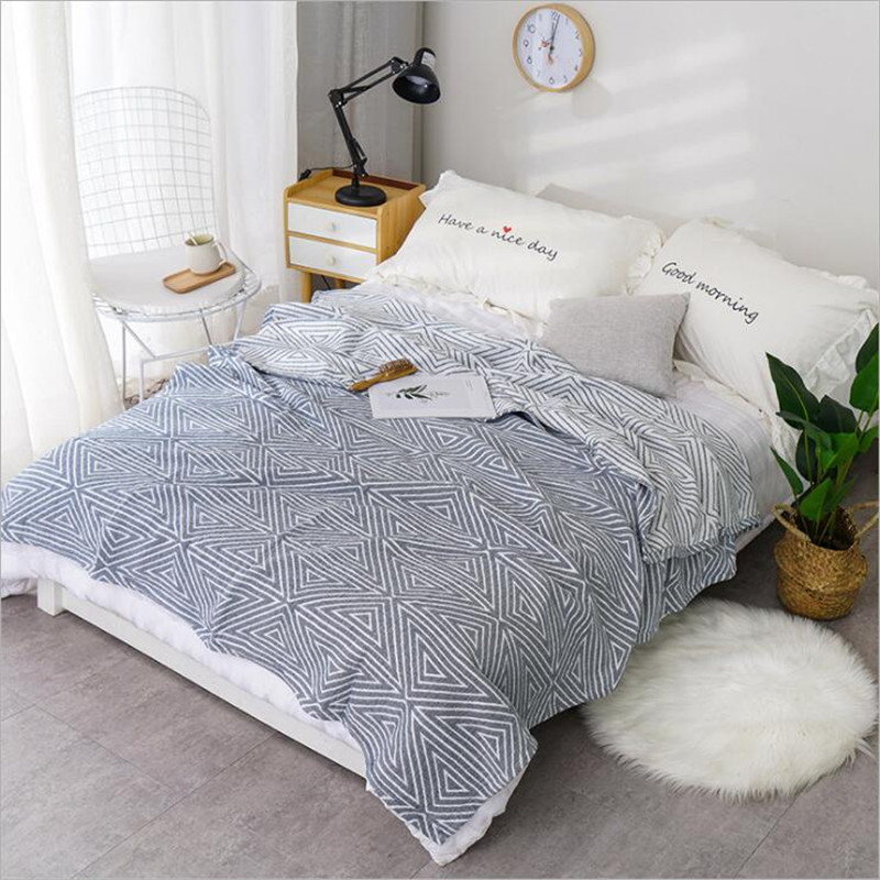 200*230cm 100% Cotton Three Layers Cozy Lightweight Muslin Cotton Throw Blanket For Sofa Summer Bedding Coverlet For Kids Adult