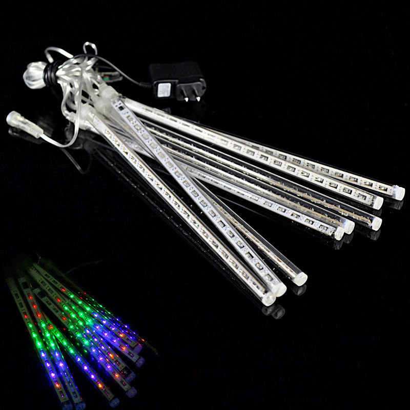 Fairy 30cm 8 pcs/set LED Meteor Shower Rain Lights Waterproof 8 Tubes String for Christmas Garden Square hang decoration lamps ...