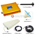 Display lcd! Gsm 900 Mhz repetidor de sinal de celular Signal Booster GSM980 amplificador de sinal com poder Splitter / antena