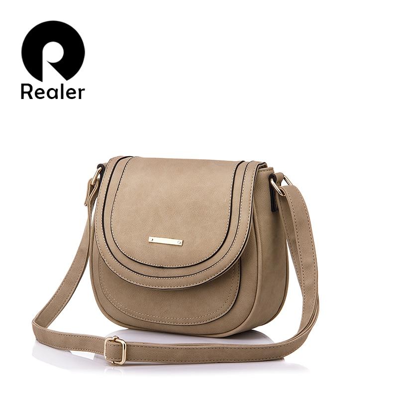 2354df637c Realer woman handbags small pu leather messenger bags women shoulder Crossbody  Bag fashion totes female student black ladies bag