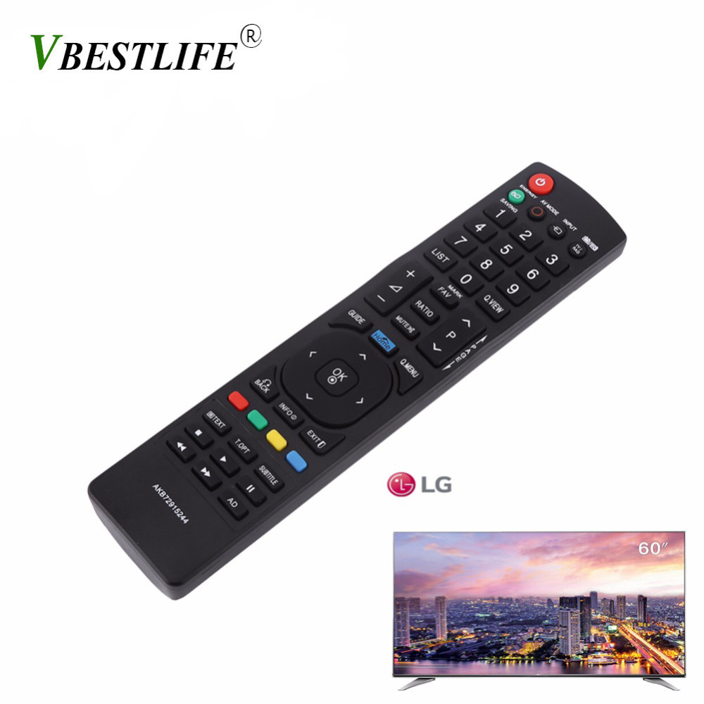VBESTLIFE Universal Remote Control Controller Replacement For LG AKB72915244 Smart LCD LED TV Wireless Control Remote New Black