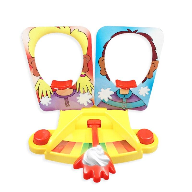Crème visage Machine Double visage partie jouet canon forme gâteau visage Machine nouveauté drôle jeu punition jouet