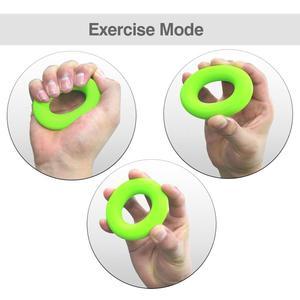 Image 5 - MYSBIKER renforcement de la poignée, anneau de lavant bras exercices de main pince de presse agrumes en Silicone pour outil dentraînement de renforcement musculaire 3 pack