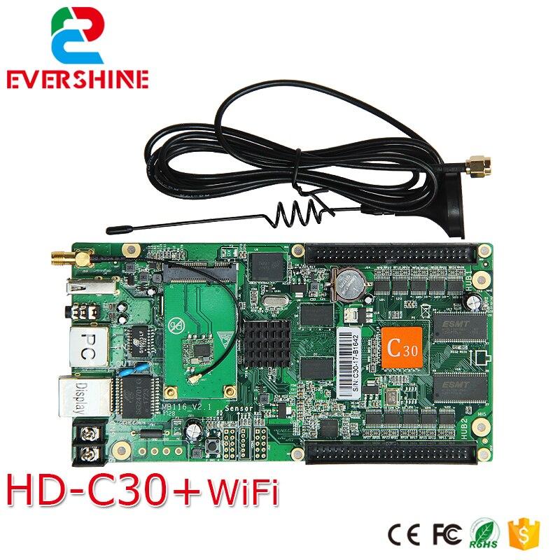 C30 HD-C30 sem fio envio e recepção sistema all-in-one cartão de controle de cor completa especializado em pequeno display led
