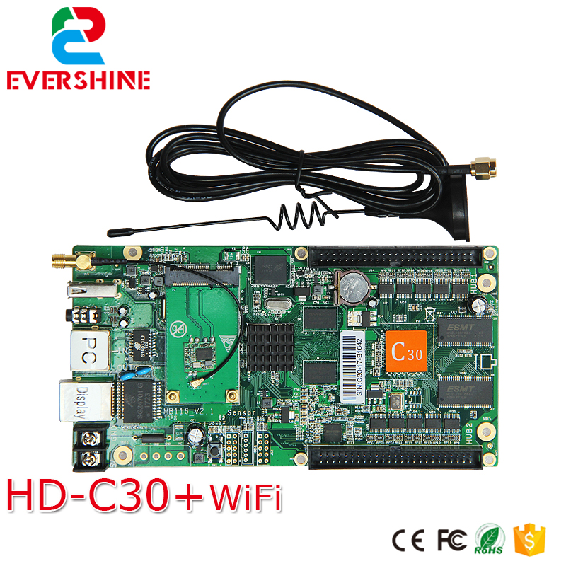 C30 HD-C30 Wireless Sending And Receiving System All-in-one Full Color Control Card Specialized In Small LED Display