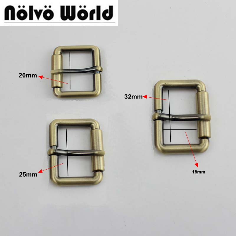 50pcs Inner 20mm 25mm 32mm 38mm  Nickel Color Turn Buckle Square Pin Buckle Belt Buckle Wholesale
