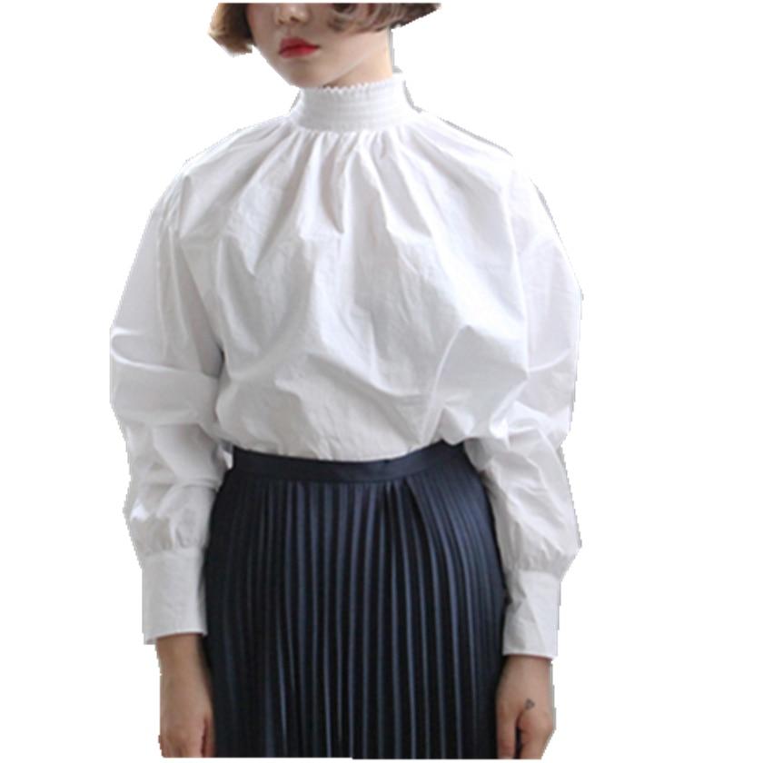 Compra blusa blanca de cuello alto online al por mayor de China Mayoristas de blusa blanca de ...