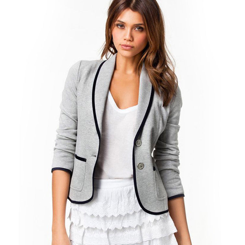 2018 Summer Fashion Women Blaser Elegant Office Blazer Coat Outwear Female Feminino Blazer Femme Plus Size Jacket Femme Blazer