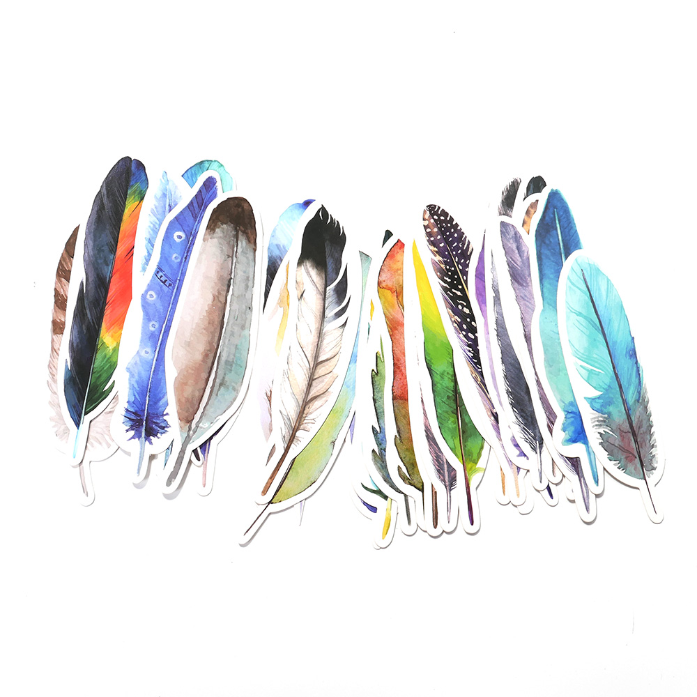 30pcs/box Beautiful Feathers Gift Bookmarks Marker Stationery Gift Realistic Kawaii Cartoon Bookmarks Clips Office School Supply