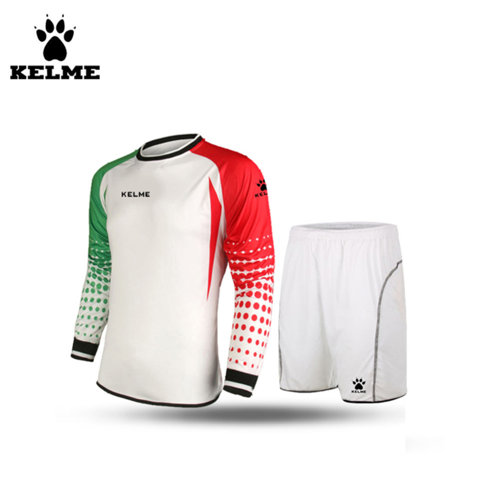 KELME Men Football Keepers Kleding Goleiro Uniforme Goalkeeper Football Uniform Customize Football Sets Voetbal Keeper Tenue 28