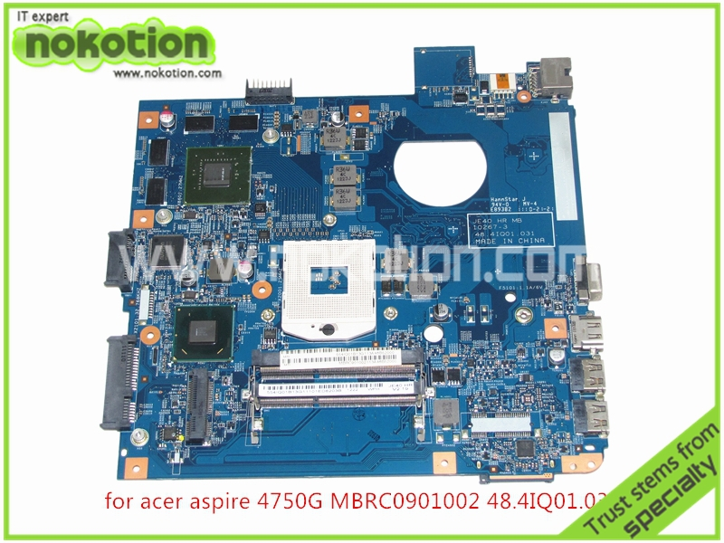 MB.RC901.002 laptop motherboard For ACER aspire 4750G MBRC901002 48.4IQ01.031 HM65 nvidia GeForce GT540M 1GB Mainboard