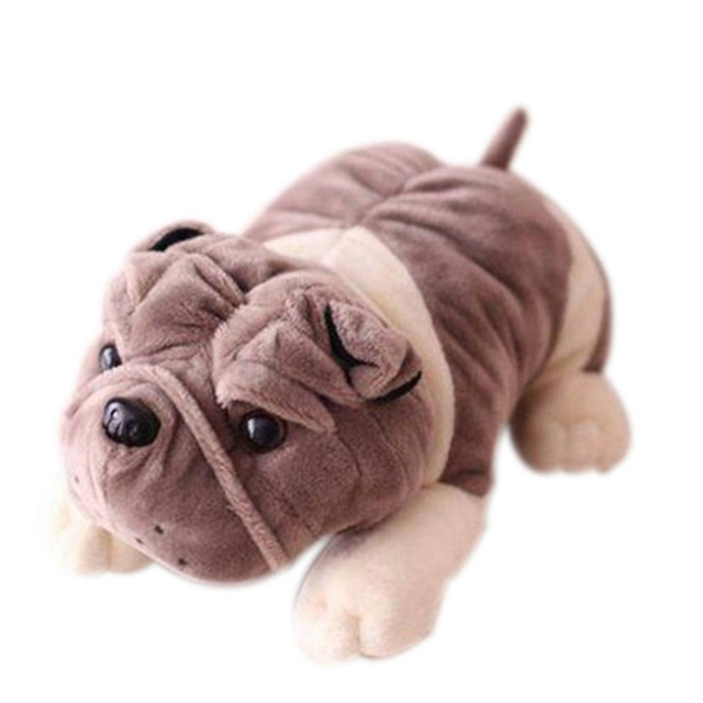 2018 New 1pcs 20cm Cute Simulation Animals Dogs Sharpei Plush Pugs