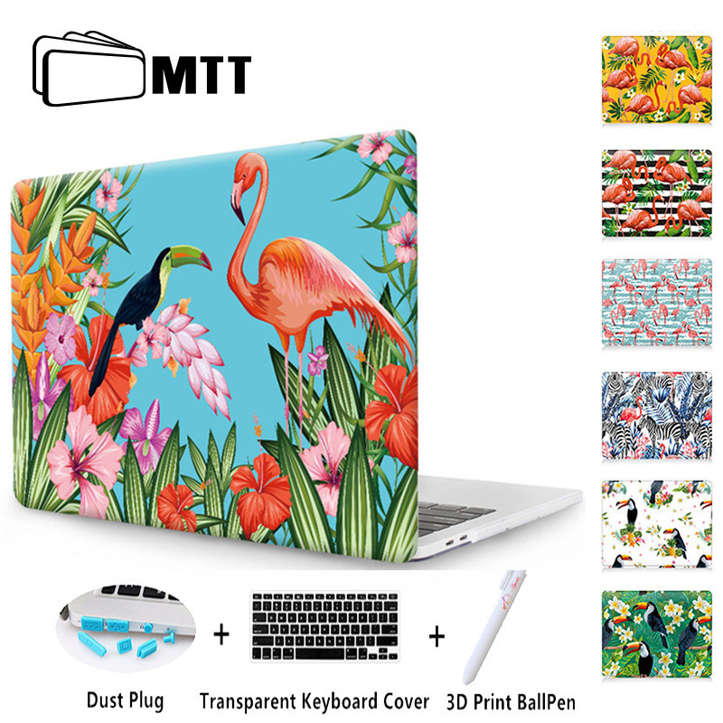 MTT Laptop Bag Case For 2017 New Macbook Air 13 Case 11 Pro 13 15 12 Retina Touch Bar Print Hard Protect Cover Flamingo Shell ...