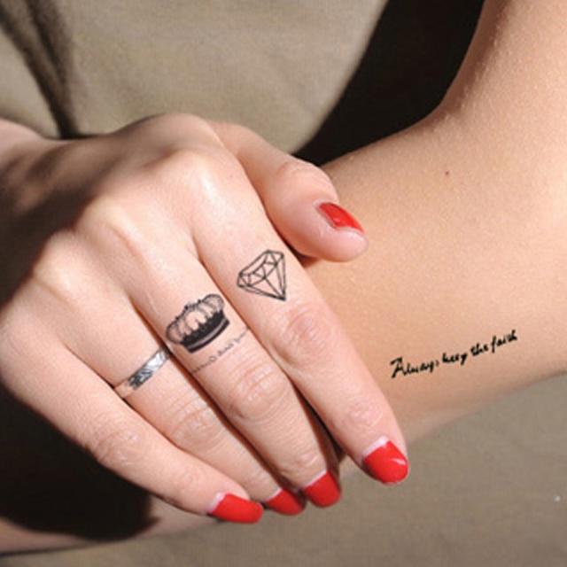 2 Pcs 3d Temporaire De Tatouage Etoiles Lettre De Tatouage Pour