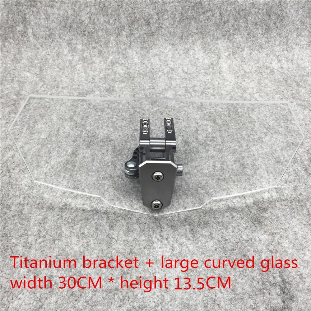 Modificado moto pára-brisa ajustável universal da motocicleta
