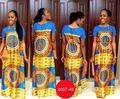 2017 Африканский Одежда Традиционный Новый Европейский Цифровая Печать Пакет Хип Платье Секси Футболки Летом И Осенью Полосой