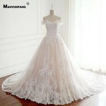 New Capped Sleeves Embroidery Appliques Vestido De Noiva Praia Chapel Train High Quality Soft Tulle Wedding Dresses Turkey