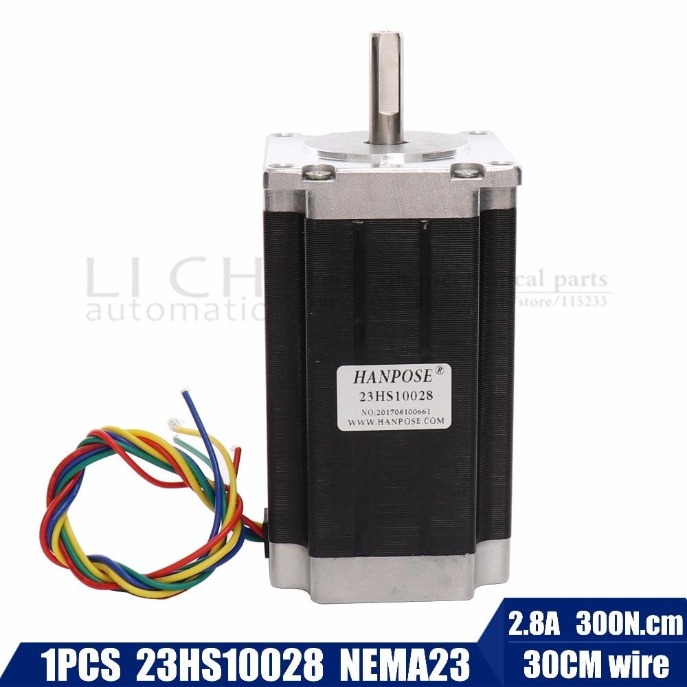 Free shipping 1 pcs 23HS10028 4 lead Nema 23 Stepper Motor 57 motor 2.8A CE ROSH ISO CNC for 3D Printer Robot Foam Plastic Meta