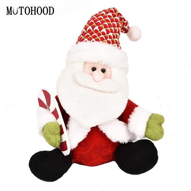 motohood kawaii christmas decoration santa claus stuffed plush toys for children party doll for girls - Stuffed Santa Claus