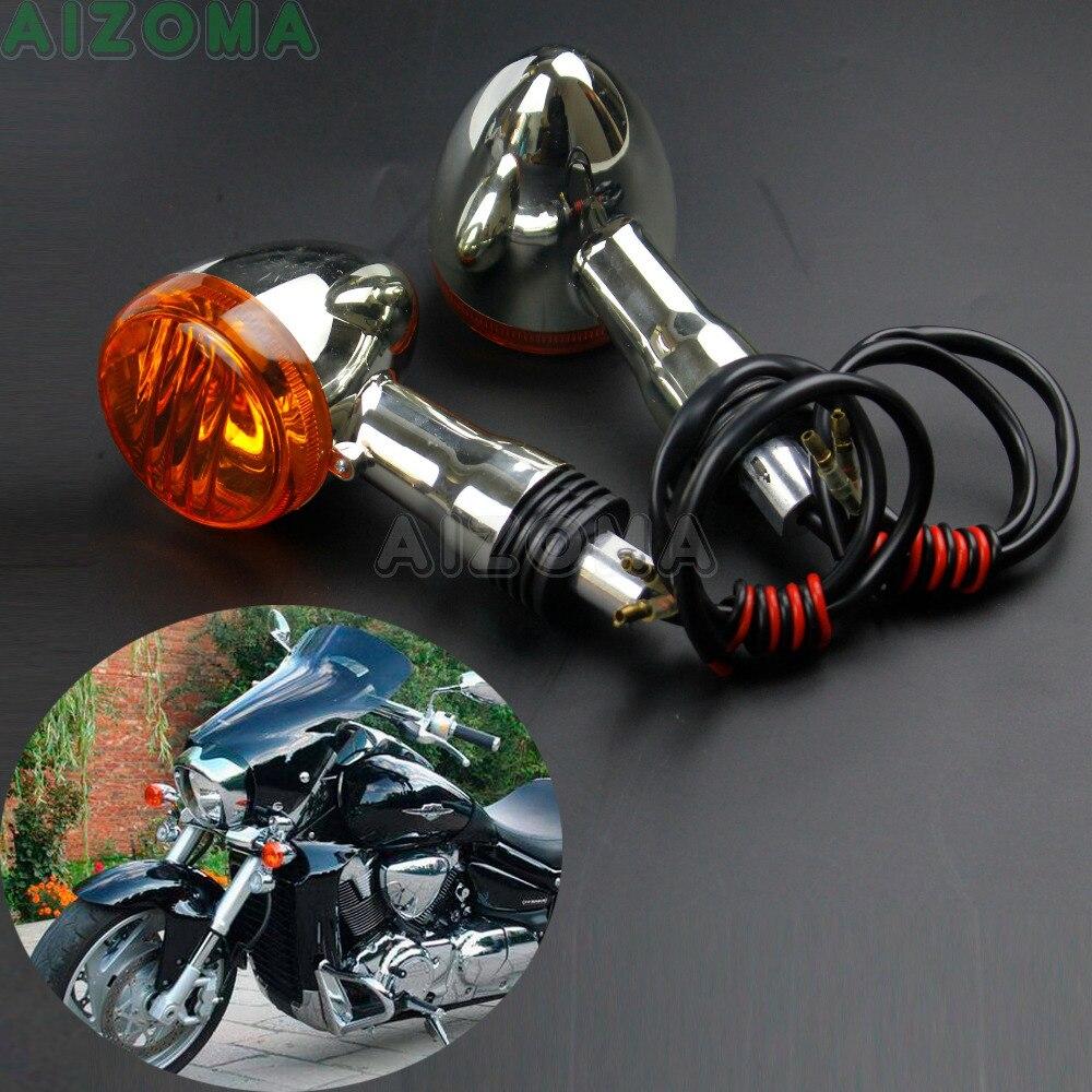 2x Motorcycle Turn Signals Fit for Suzuki Boulevard Intruder C50 C90 M90 M109R