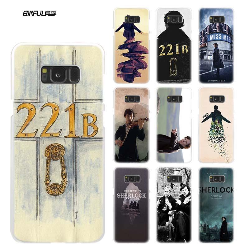 BiNFUL bbc sherlock season 221B Clear Case Cover Coque Shell for Samsung Galaxy S4 S5 Mini S6 S7 Edge S8 S9 Plus