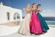 Kurze Brautkleider Zeitlich begrenzte Neue 2016 A-line V-ausschnitt Bodenlangen Satin Kleid Kleid Langen Sleeveless Kristalle F1393