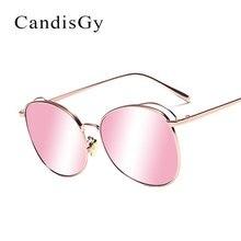 Mujeres Espejo Rosa Hueco Hister gafas de Sol de Diseñador de La Marca de Moda de Señora gafas de Sol Gafas de Marco de Metal Femenino YD104