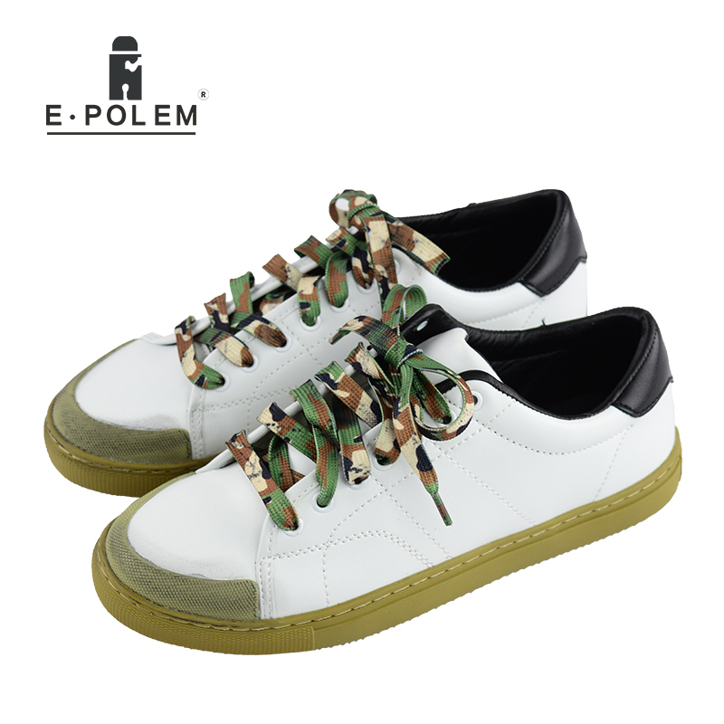 Fashion Board Shoes for Men 2017 Outdoor Breathable Mens Shoes Vintage Camouflage Flat Casual Shoes Black White 2017 new spring imported leather men s shoes white eather shoes breathable sneaker fashion men casual shoes