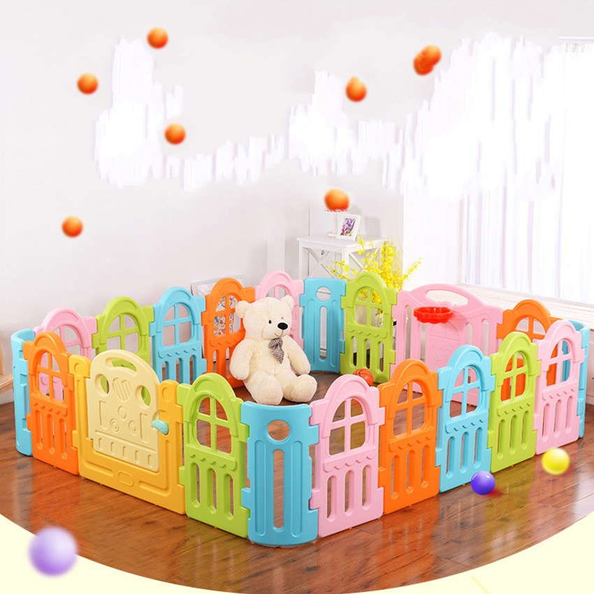 New Design Indoor Baby Playpens Child Toddler Activity Game Space Safe Protection Fence Mixed Color фасад мдф со стеклом сантук 716х446мм шампань светлый техно