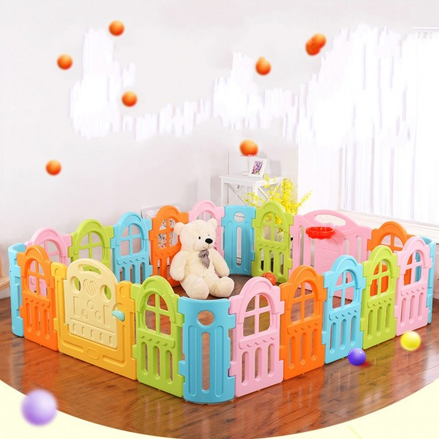 New Design Indoor Baby Playpens Child Toddler Activity Game Space Safe Protection Fence Mixed Color